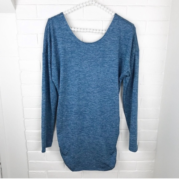 Lucy Dresses & Skirts - {Lucy} Heathered Blue Athletic Mini Dress/Tunic